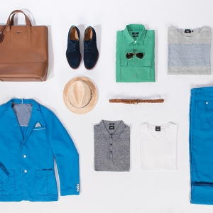 "Hugo Boss<br /><small class=""pr_small"">KÜ-Shooting Summer14</small>"