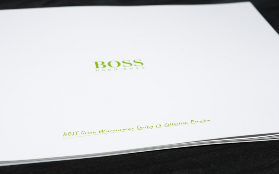 "Hugo Boss<br /><small class=""pr_small"">Collection Preview Womenswear Spring 13</small>"