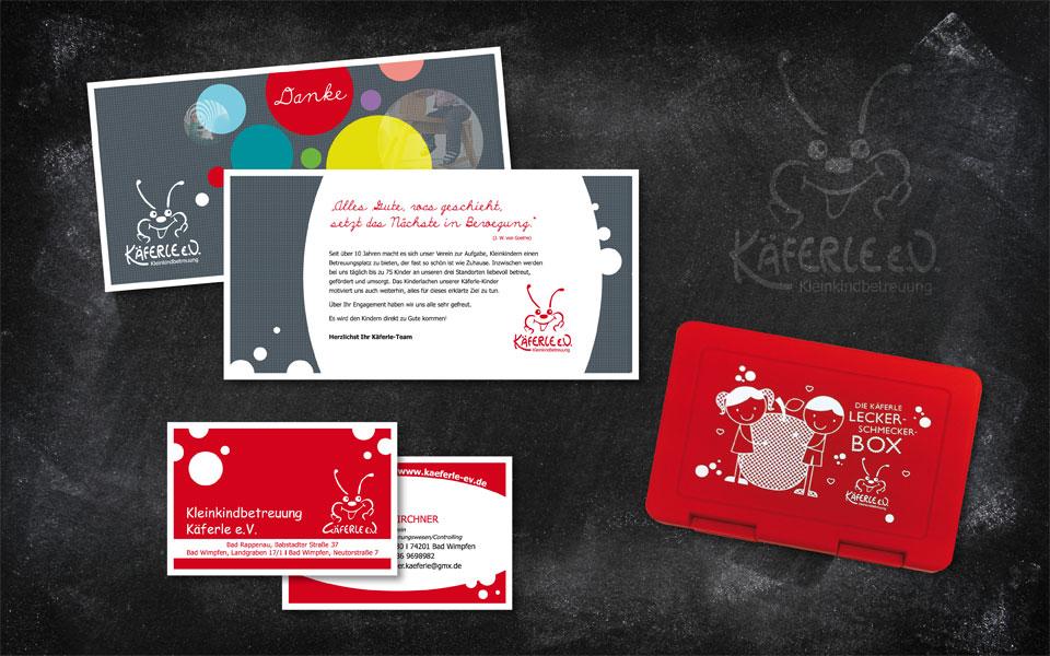Brotdose + Visitenkarten + Dankeskarte