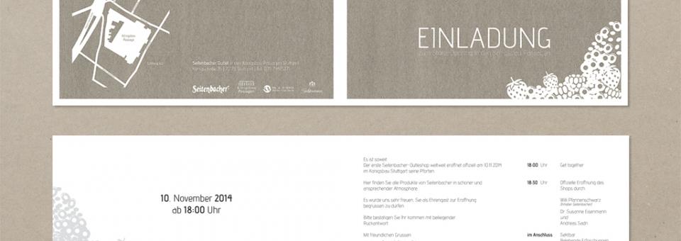 Seitenbacher Einladung zum Store Opening