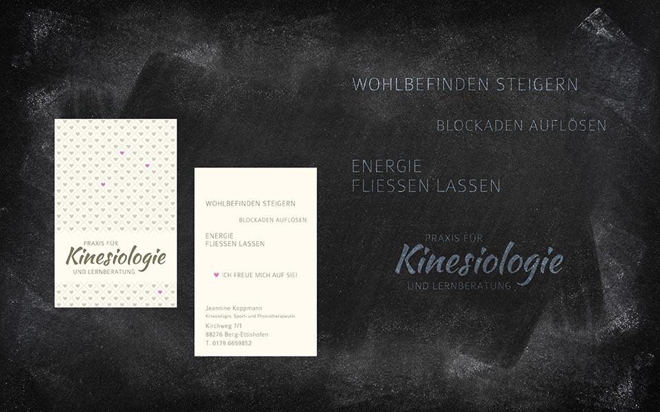 Schriftzug + Visitenkarte