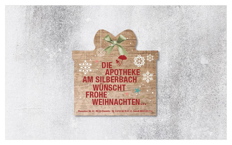 """Weihnachtskarte """"Geschenk"""""""