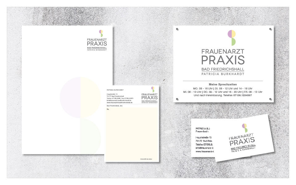 Corporate Design Frauenarztpraxis