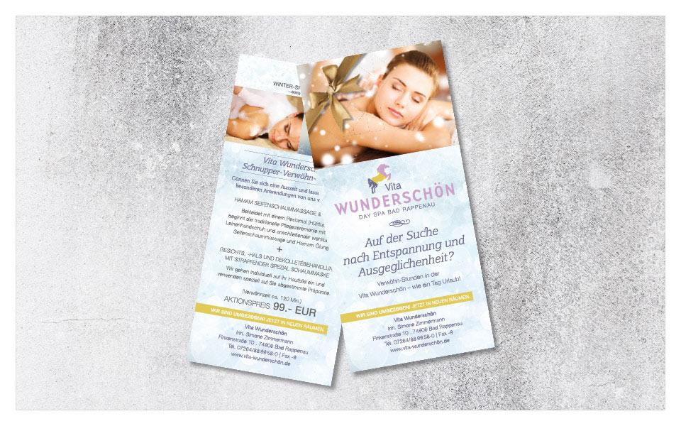 """Flyer """"Winter-Special"""" Wellness- und Kosmetikstudio"""